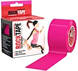 RockTape Original 2-Inch Water-Resistant Kinesiology Tape, 16.4-Foot Continuous Roll, Hot Pink