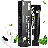 Dai-ve pasta dental blanqueadora Carbón activado, Bamboo charcoal Pasta de Dientes, Carbón activado Blanquear la crema dental negra