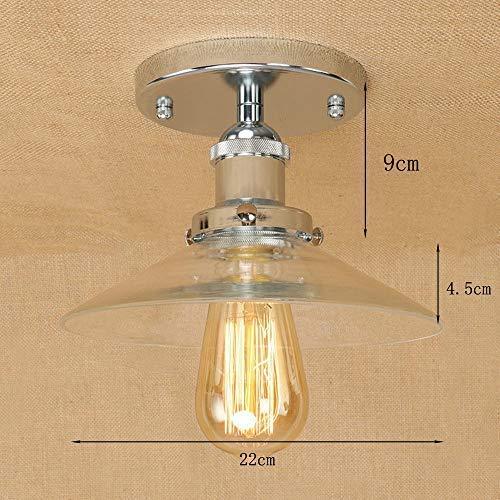 Industrieel design glazen kap van glas plafondlamp antieke plafondverlichting ronde vloerlamp vloerlamp plafondlamp E27 1 zilver D