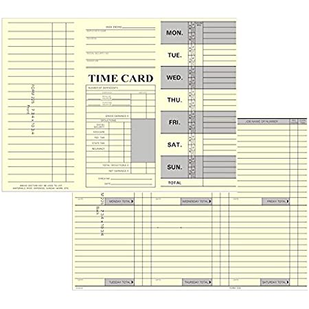 Time Card Consecutive 3.375 x 10.25 FORM M74 TCS 1000 ct