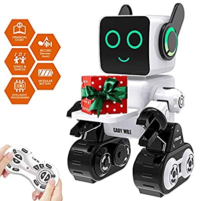 Robot Toy, Remote Control Robot Toy for Kids, Intelligent Programming RC Robot, Suitable for Kids Aged 3 and over to Sing, Dance, Talk, Transfer Items and Play with Kids as a Gift for Child (white)