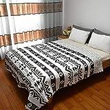 HOUMEL 033 - Edredón individual o doble (1,5 tog, ligero, diseño geométrico, muy suave, adecuado para cama, sillón o sofá, D, King
