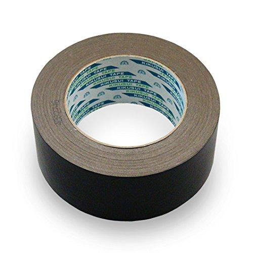 菊水 黒いクラフトテープ 幅50mm長さ50m巻 バラ用 35個セット (ガムテープ カラーテープ 粘着テープ 梱包テープ 黒 梱包用テープ)