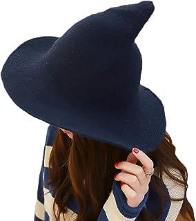 Unigds Fashion Woman Winter Knit Witch Steeple Hat