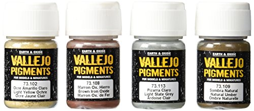 Vallejo Pigment Set 2 -Mud and Sand- 73197