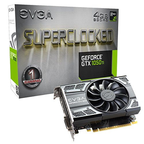 EVGA GeForce GTX 1050 Ti SC Gaming, 4GB GDDR5, DX12 OSD Support (PXOC) Graphics Card...