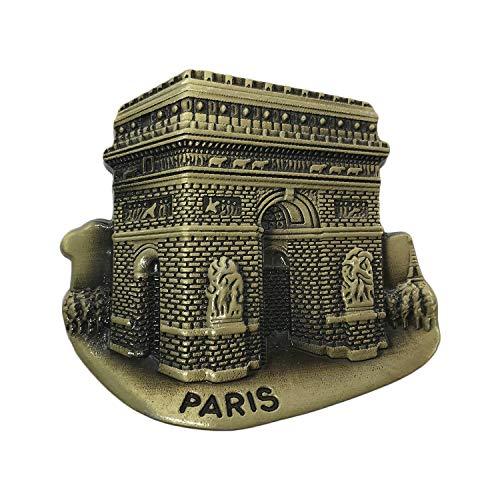 3D Paris France Arc de Triomphe Aimant de réfrigérateur en métal Souvenirs de voyage Aimant de réfrigérateur Décoration de maison et cuisine