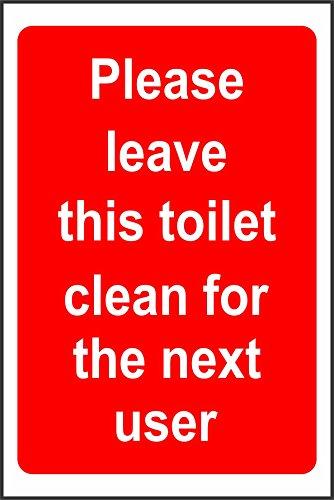 Etiqueta - Seguridad - Advertencia - Deje este baño limpio el próximo...
