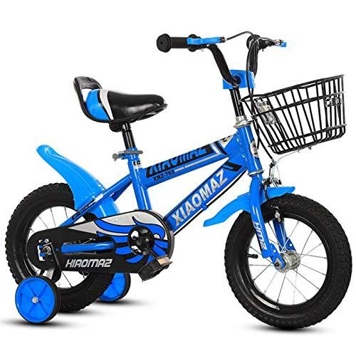 GTD-RISE Bicicleta niño Bicicleta Infantil For los niños de Bicicletas 2-9 años, los niños de Pedal de la Bicicleta Niño Niña Niño de Bicicletas de 12', 14', 16 Bicicletas con Ruedas de Entrenamiento