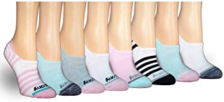 Women's 8-pair No Show Cushioned Invisible Liner Socks