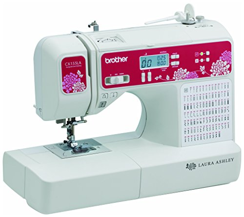 Brother Sewing Laura Ashley CX155LA Limited Edition Sewing & Quilting Machine with Built-in Sewing...