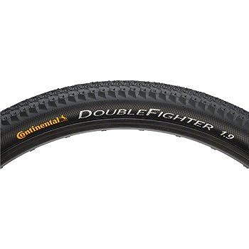 "Conti Fahrrad Reifen Double Fighter III 26x1.90/"" 50-559 schwarz//schwarz"