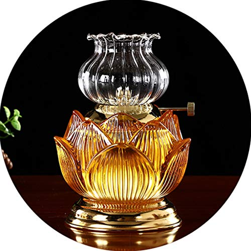xinke Pequeñas Lámparas De Aceite para Uso En Interiores Vintage 70s Linternas Decoración Antigüedades Dientes Iluminación De Keroseno Parafina Parafina Linterna(Size:15.5×9.5cm,Color:Amarillo)