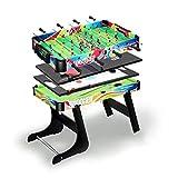 ZXQZ Mesa de Juego Combinada 4 En 1, Mesa de Hockey, Futbolín Mesa de Billar, Tenis de Mesa, Hockey de Mesa de Aire, para Niños/Adultos/Familia Mini mesas de Billar (Color : Style1)