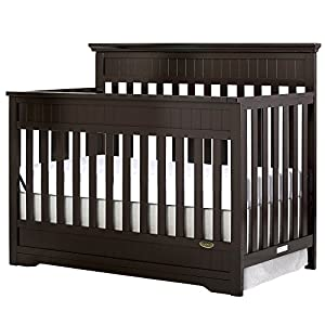 Dream On Me Chesapeake 5-in-1 Convertible Crib, Mocha