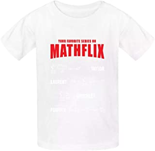 LeoCap Math Flix Youth's Tee Cotton T-Shirts Crew Neck Short Sleeve