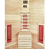 Home Deluxe – Infrarotkabine – Nova – Vollspektrumstrahler – Holz: Hemlocktanne - Maße: 100 x 100 x 200 cm – inkl. vielen Extras und komplettem Zubehör - 4
