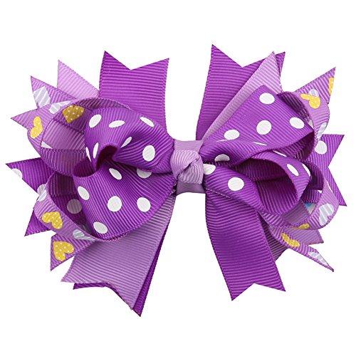 kanggest Multicolore Preciosa clip di capelli del bowknot per la decorazione del pelo della festa di compleanno del nebé clip del hairband del mare Fontane di Escursione della Fotografia 11CM porpora