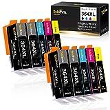 ✔ Alta Resa Per Pagina e Capacità: 736 pagine per ogni cartuccia nero, 928 pagine per ogni cartuccia a colori al 5% di copertura di A4. Volume di inchiostro: Nero 21ML, 14ML per colore.