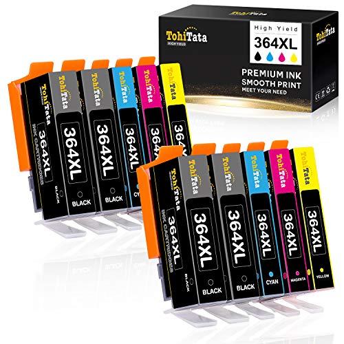 TohiTata 364XL Ersatz für HP 364 Druckerpatronen Kompatibel mit HP Deskjet 3520 3070A, HP Photosmart 5520 5522 5510 7520 7510 6510 6520 B109a B8550, HP Officejet 4620 4622