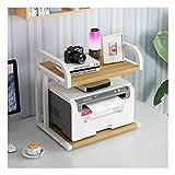 Druckerständer Drucker-Shelf Creative Multi-Layer-Storage Rack Kleinkopierer Storage Rack Desktop-Speicher-Organisator-Rack Geeignet for Haus und Büro für Zuhause und Büro (Color : White-b)