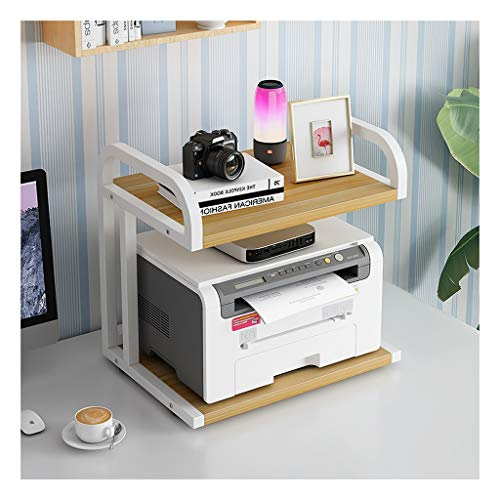 Printer Stands Printer Shelf Creative Multi-Layer Storage Rack Small Copier Storage Rack Desktop Storage Rack Organizer Suitable for Home and Office Mobile Printer Cart (Color : White-b)