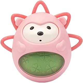 Anniston Kids Toys, Cartoon Hand Grip Ball Baby Shaking Rattle Tumbler Developmental Teething Toy Baby Toys Perfect Fun Ti...