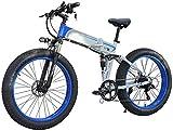 Bicicleta de montaña eléctrica, Bicicleta eléctrica plegable Ebikes Moutain Bike Ligero 350W 48V, for hombre de montaña de las mujeres plegable E-Bici sistema Velocidad de transmisión 7, con 26 pulgad