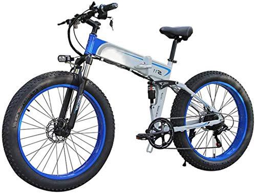RDJM Bici electrica E-Bici Plegable de 7 velocidades de Bicicletas de montaña eléctrica for Adultos, 26' Bicicleta eléctrica/conmuta E-Bici con Motor de 350 W, 3 Modo LCD for Adultos Ciudad De traye