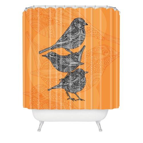 DENY Designs Valentina Ramos Duschvorhang, 3 kleine Vögel, 164 x 183 cm