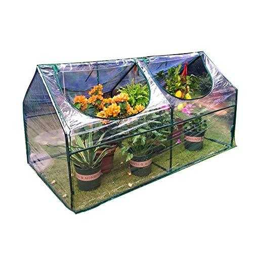 LIANGLIANG-Gewächshaus Gartenarbeit Terrasse Pflanzen Topfpflanze Blumen Transparent Wärmedämmschuppen Atmungsaktiv, Metallbügel, 2 Größen (Size : 120x60x60cm)