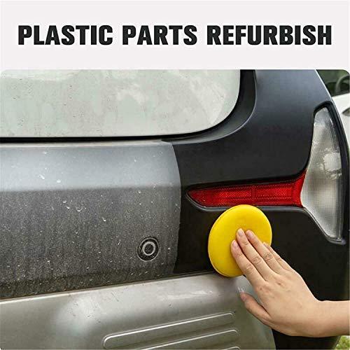 Car Plastic Parts Refurbish Agent 10ml,Anti Scratch Polish Nano Coating Agent Coating Paste Maintenance Cleaner,Car Cleaning Retreading(3bottles)