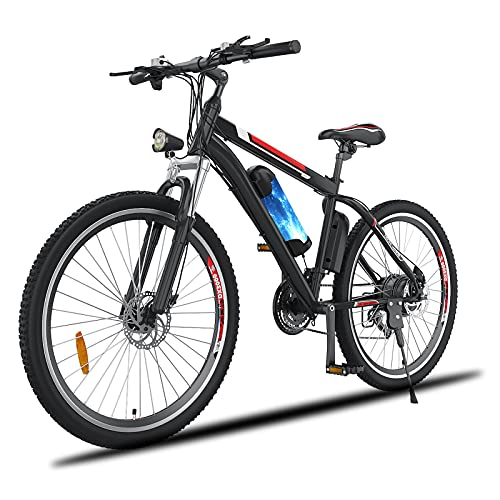 Oppikle 26'' Electric Mountain Bike with Removable Large Capacity Lithium-Ion Battery (36V 250W), Electric Bike 21 Speed Gear and Three Working Modes