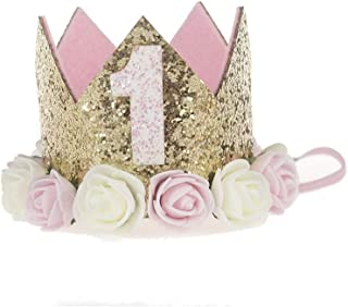 LUCKY FUN バースデーパーティー ハット 1歳 誕生日 帽子 ベビー 赤ちゃん 王冠 お祝いグッズ 飾り 男の子 女の子