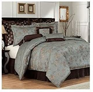 Waterford Palmerston Collection 6-Pc Queen Comforter Set, Blue