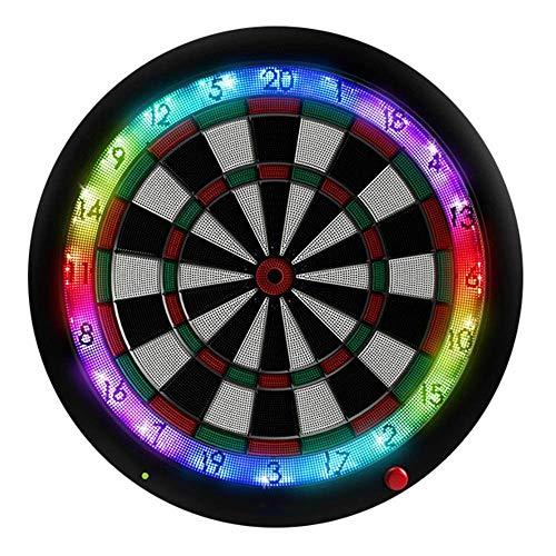 Nuokix Dart Profi-Spiel Dart Board kann, um die Bluetooth Automatische Scoring Soft-Dart Ziel Elektronische Dartscheibe Full Size Spiel Dart Board (Farbe, Größe: Eine Größe) anschließbaren Dart Backbo