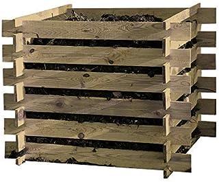 Compostador Abono de Madera Construcción 100x100x70cm