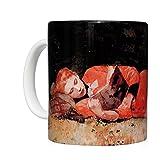 We Love Art Tazza per la Colazione in Ceramica Bianca 32 cl, Stampata con Opera d'Arte The New Novel autore Winslow Homer
