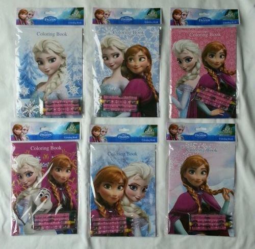 Coloring Book 12 Sets of Disney Frozen and Crayon Set Children Party Favors Bag Filler