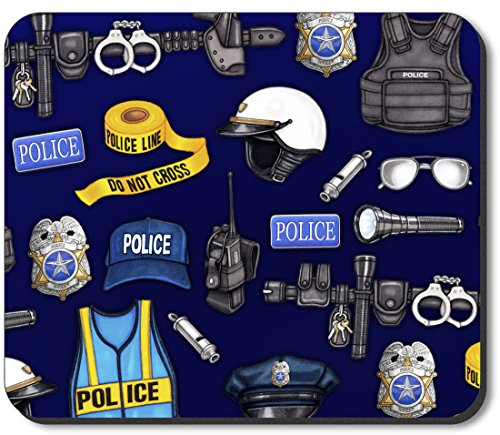 Art Plates Brand Mouse Pad - Police Department - Image by Dan Morris