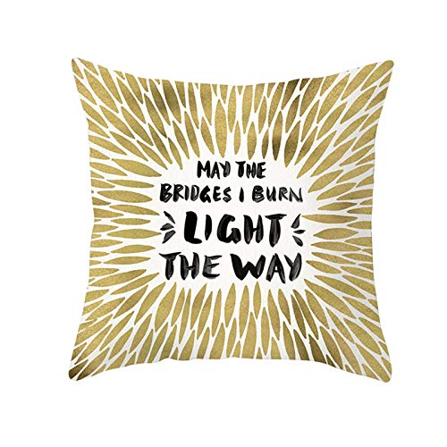 Amody Fundas para Cojines Modernos, Funda de Cojines 45x45cm May The Bridges I Burn Light The Way Funda de Almohada para Sala de Estar Coche Jardín Style 34