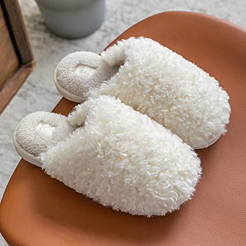 Foam Pantuflas Suave Caliente Algodón Antideslizante,Zapatillas de casa calientes peludas, zapatos de algodón cálido antideslizantes-Meter_34-35,Zapatillas de Estar Caliente, Suave y Antideslizante