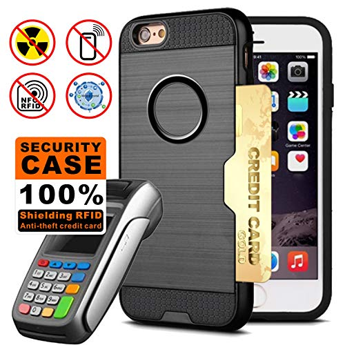 """TAGCMC Radiation Protection Case for iPhone 6/iPhone 6s, RFID Blocking Credit Card Case, Anti Radiation 99% EMF Protection, Full Body Double Protection for Apple iPhone /iP6hone 6s,4.7"""" (Space Gray)"""