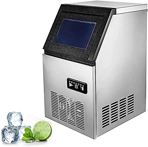 BECCYYLY Refrigerador portátil Máquina de Fabricante de Hielo Comercial de 50 kg 110lbs Máquina de Cubo de Hielo Máquina de Control Digital Refrigeración para Barras Home Supermarkets Mini Nevera