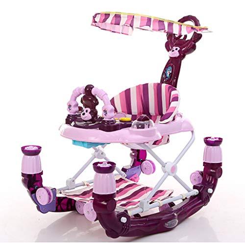 YXXHM- Walker Schaukelpferd Push Rod Mit Bremsgürtel Mit Musik Spielzeug Baby Hand-Augen-Koordination Eltern-Kind-Kommunikation 70 * 60 * 44Cm,A