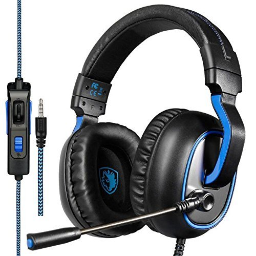 Sades R4 Auriculares Cascos Gaming de Diadema Cerrados con Micrófono 3.5mm Jack...