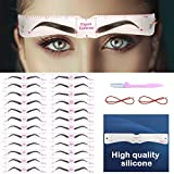 Best Eyebrow Stencils - Aresvns Eyebrow Stencil 24 styles ,Reusable Eyebrow Template Review