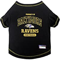 NFL BALTIMORE RAVENS Dog T-Shirt, X-Large. - Cutest Pet Tee Shirt for the real sporty pup