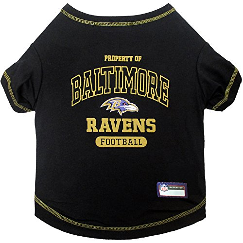 PET SHIRT for Dogs & Cats - NFL BALTIMORE RAVENS Dog T-Shirt, X-Small. - Cutest Pet Tee Shirt for the real sporty pup