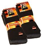 6pares de calcetines térmicos de tejido de rizo completo, color negro, antracita y gris Schwarz, Anthrazit, Grau 39